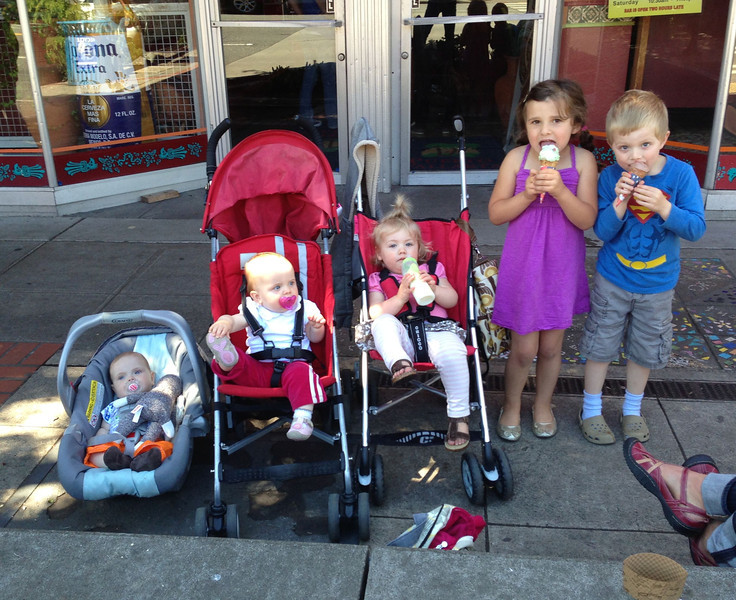Easton, Maggie, Violet, Evvi, and Jack. And we are missing 4 other kids, Amelia, Will, Jack, and Emma - we've been busy!
