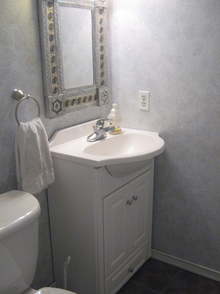 main level half bath