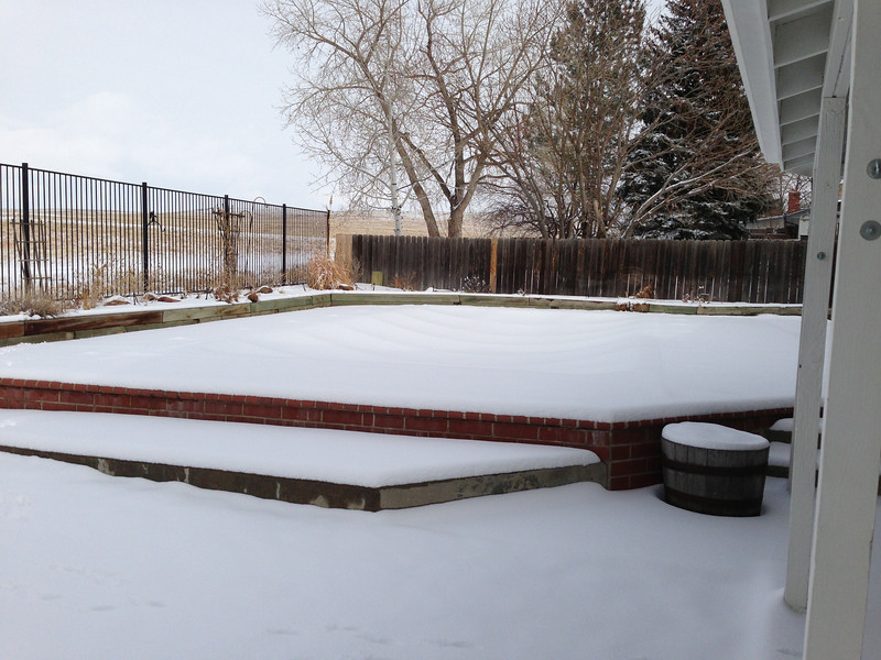 Snow-covered pool