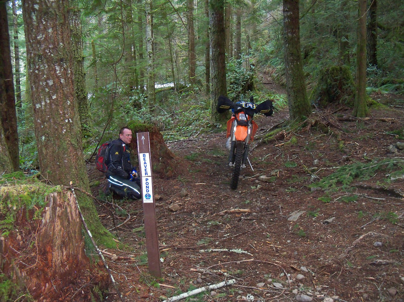 Finially, Scott took us on a real trail...