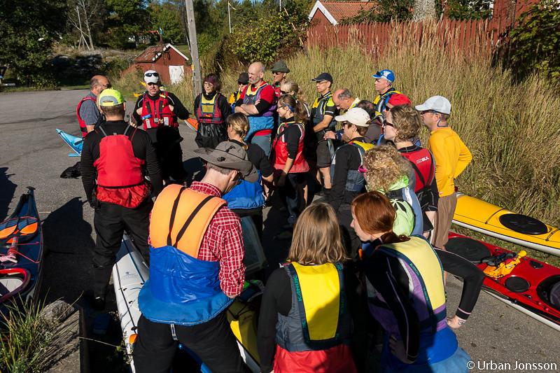 Riktigt många paddlare denna gång, alla Norrvikens kajaker var bokade.