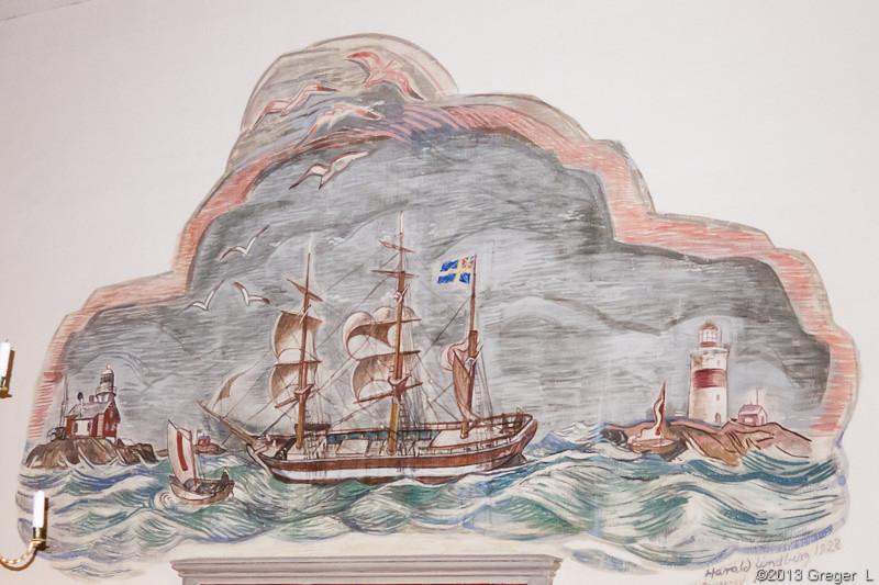 Målning av Harald Lindberg