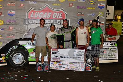Jason Feger and Crew in Victory Lane @ Hamilton County Speedway