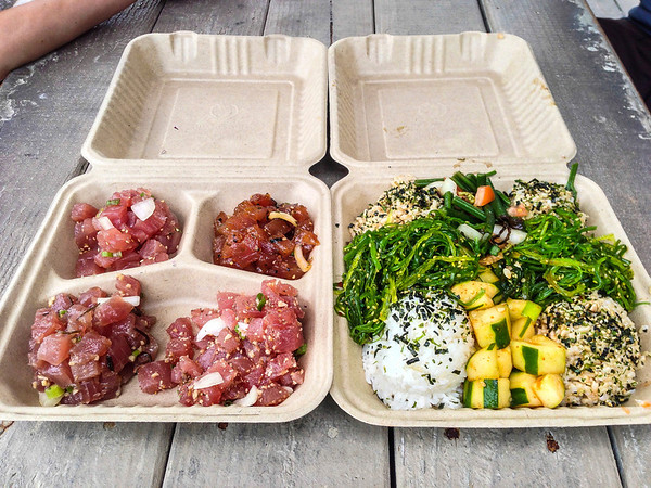 Poke poke poke poke! 4 kinds of Poke. Da Poke Shack