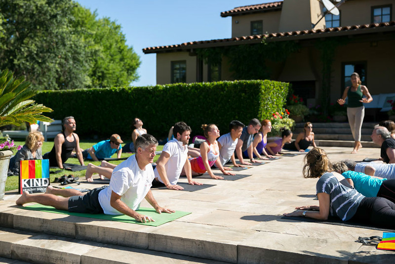 Yoga in the Vineyard at Entre Nous, led by Nicole Abiouness.