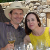 Vintner's Luncheon at Grgich Hills Estate.  Colin Shipman and Violet Grgich.