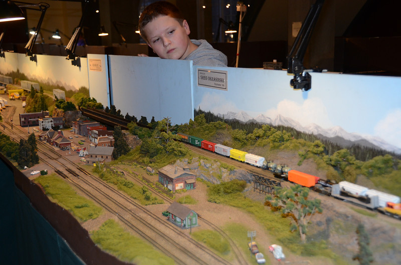 Nathan's a new NRMA N scale member! At History Museum.