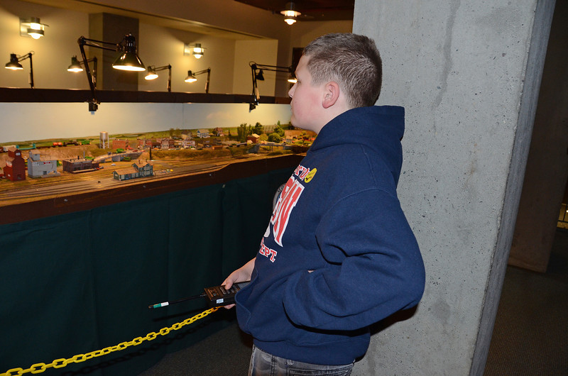 Nathan w/ controller at Model RR Show, WSHM
