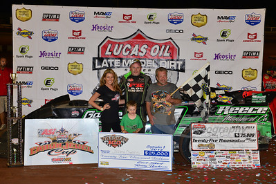 Jimmy Owens with Carl Short in Victory Lane for the Hillbilly 100 @ I-77 Raceway Park
