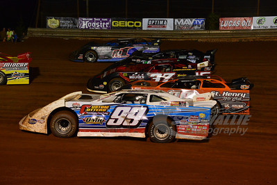 4-wide Parade lap for the Hillbilly 100 @ I-77 Raceway Park