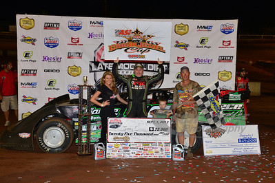 Jimmy Owens in Victory Lane for the Hillbilly 100 @ I-77 Raceway Park