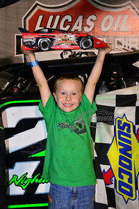 Jimmy Owens' son Nathan in Victory Lane