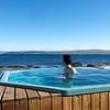 Public hot pools at Drangsnes overlooking the Steingrímsfjörður