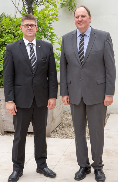 Gunnar Bragi Sveinsson, Icelandic Minister for Foreign Affairs, and Kristinn F. Árnason, Secretary-General, EFTA.
