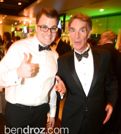 Brandon Wetherbee, Bill Nye the Science Guy, The Inaugural Green Ball on Sunday, January 20th , 2013. Newseum.