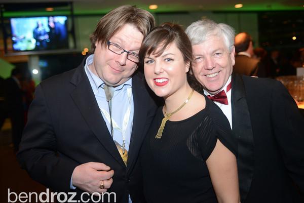 Ian Fisk, Rebecca Yarbrough,  Randy Hayes, The Inaugural Green Ball on Sunday, January 20th , 2013. Newseum.