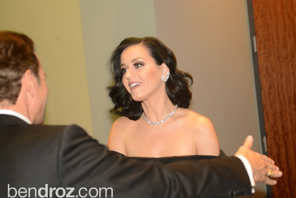 Katy Perry and Vincent De Paul,  The Official Presidential Inaugural Ball. Walter E. Convention Center. Photo by Ben Droz.