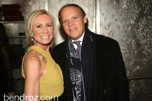 Carole Vargas, Mark Ein,  Artists Making an IMPACT , Inauguration Dinner, OYA Restaurant and lounge. Photo by Ben Droz.