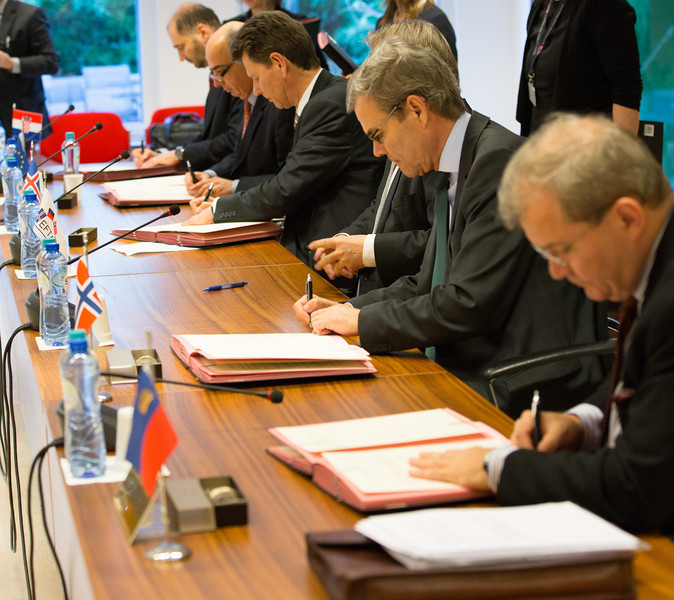 Iceland, Liechtenstein and Norway initialled the agreement on the participation of Croatia in the European Economic Area (EEA), together with representatives of Croatia and the European External Action Service (EEAS) in Brussels.