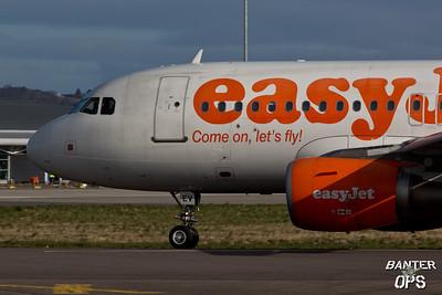 Airbus A.319 G-EZEV Nose of EasyJet.