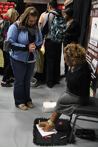 Author and Motivational Speaker, Tawana Williams, speaks on her blessings that God has given her. Williams let GWU students realize that nothing can hold them back to what they are meant to do.