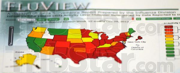 MET011013 flu cdc map