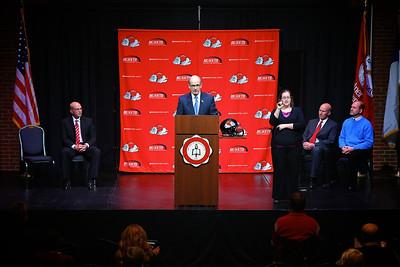 Carroll McCray named new GWU Head Football Coach; Press Conference, January 2013.