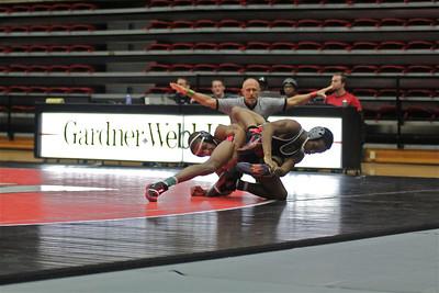 GWU Wrestling defeats VMI 19-12 Friday January 25.