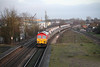 11 January 2013 :: 59205 at Newbury Racecourse working 6V18, Hither Green to Whatley
