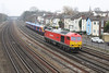 10 Januay 2013 :: 60019 running light as 0V38 from Marchwood to Didcot on the approach to Southampton station