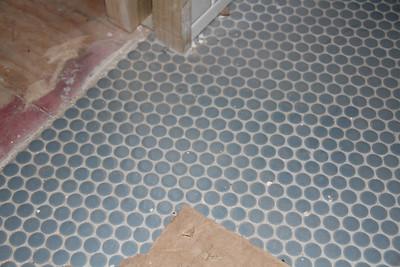 Max's bathroom floor tile