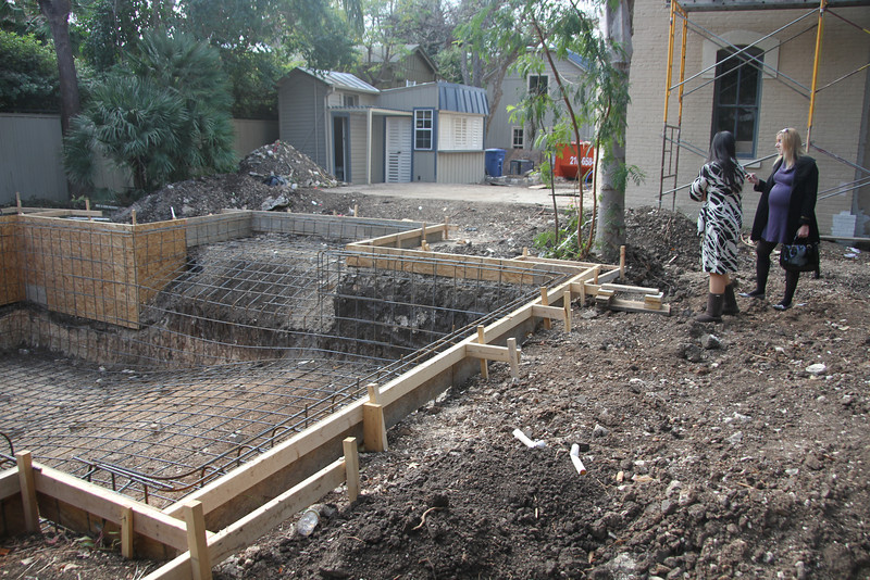 The start of the pool