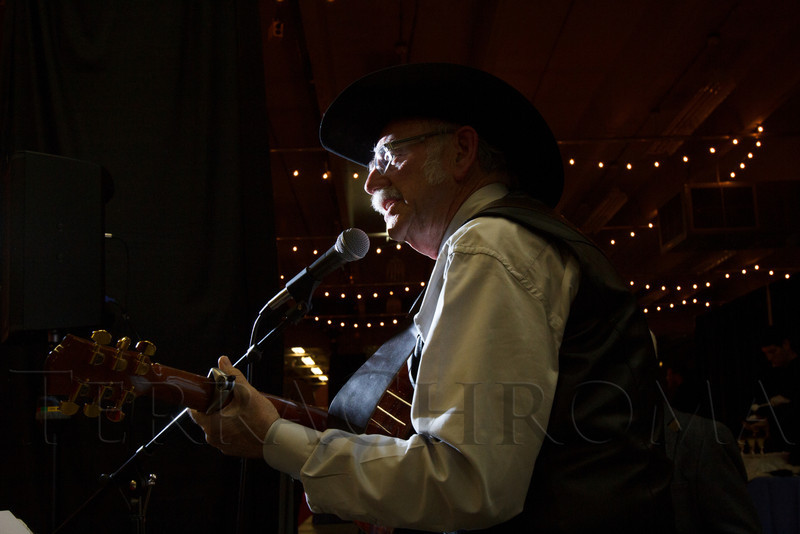 Jim Schafer performs.  The 2013 Coors Western Art Exhibit and Sale Red Carpet Reception at the National Western Stock Show Complex in Denver, Colorado, on Tuesday, Jan. 8, 2013.<br /> Photo Steve Peterson