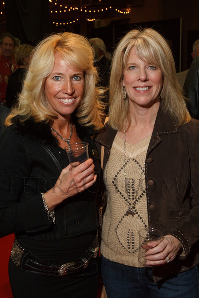 Kathy May and Helena Buckley.  The 2013 Coors Western Art Exhibit and Sale Red Carpet Reception at the National Western Stock Show Complex in Denver, Colorado, on Tuesday, Jan. 8, 2013.<br /> Photo Steve Peterson