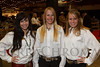 McKenzi Digby, Alecia Cushman (cq), and Amanda Summers (El Paso County Fair Queen 2011).  The 2013 Coors Western Art Exhibit and Sale Red Carpet Reception at the National Western Stock Show Complex in Denver, Colorado, on Tuesday, Jan. 8, 2013.<br /> Photo Steve Peterson