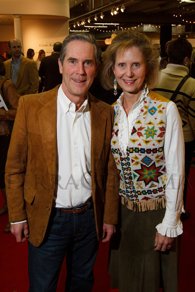 Richard Caudle and Louise Hurlbut.  The 2013 Coors Western Art Exhibit and Sale Red Carpet Reception at the National Western Stock Show Complex in Denver, Colorado, on Tuesday, Jan. 8, 2013.<br /> Photo Steve Peterson