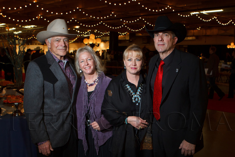 Emil and Kristen Squazzo with Susan and Wayne Bichel.  The 2013 Coors Western Art Exhibit and Sale Red Carpet Reception at the National Western Stock Show Complex in Denver, Colorado, on Tuesday, Jan. 8, 2013.<br /> Photo Steve Peterson