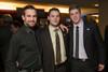 "Colorado Mammoth players:  Ilija Gajic, Dan Coates, and Colt Clark.  ""Mile High Dreams Gala,"" benefiting Kroenke Sports Charities, at the Pepsi Center in Denver, Colorado, on Monday, Jan. 21, 2013.<br /> Photo Steve Peterson"
