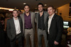 """With the Colorado Avalanche:  Mark Olver, Patrick Bordeleau, Ryan O'Byrne, and Cody McLeod.  """"Mile High Dreams Gala,"""" benefiting Kroenke Sports Charities, at the Pepsi Center in Denver, Colorado, on Monday, Jan. 21, 2013.<br /> Photo Steve Peterson"""