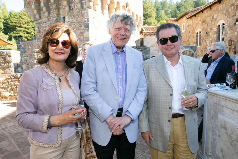 Mahvash Yazdi, Gordon Getty, Farrok Yazdi.