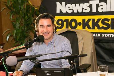 Talk show host Joel Riddell.