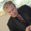 Jean-Yves Thibaudet signs CDs for fans.