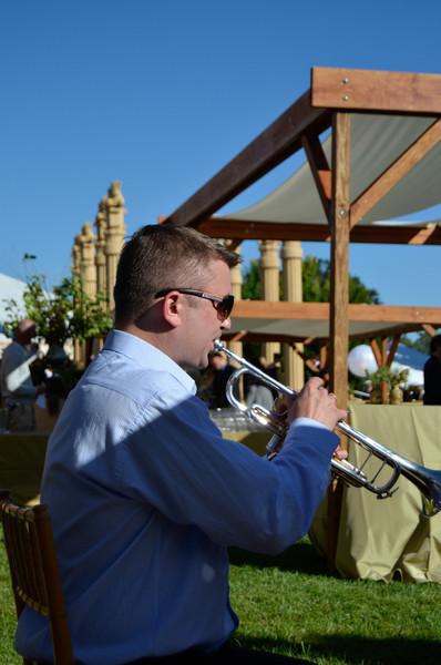 Dinner at Darioush. RNO principal trumpet, Vladislav Lavrik.