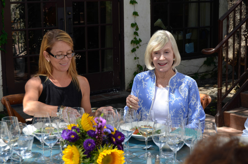 Vintner's Luncheon at Grgich Hills Estate. Meagan Stasz and Pepper Jackson.
