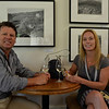 Vintner's Luncheon at Sterling Vineyards. Katie Leonardini and guest.