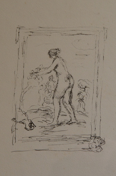 Vintner's Luncheon at Sterling Vineyards. A sketch by Renoir in the winery's fine art collection.