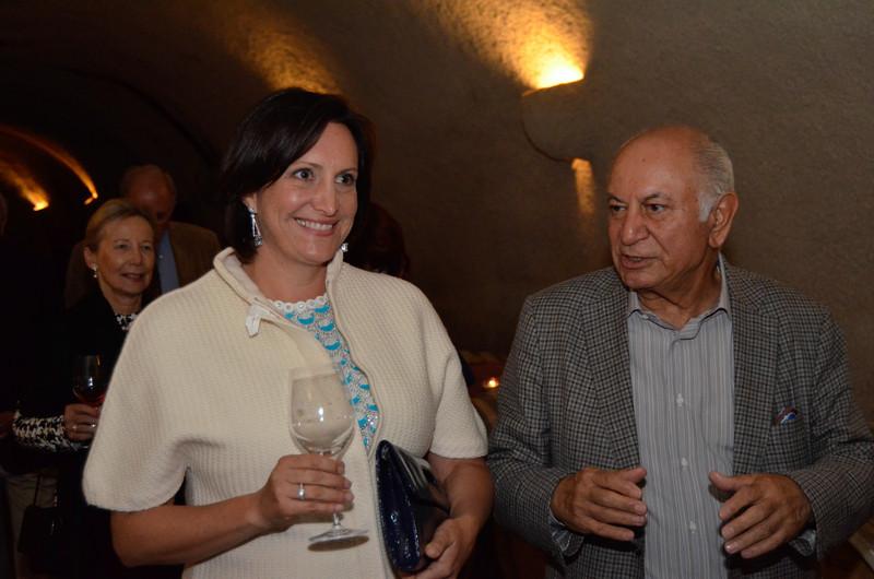Ana Keller and Darioush Khaledi.