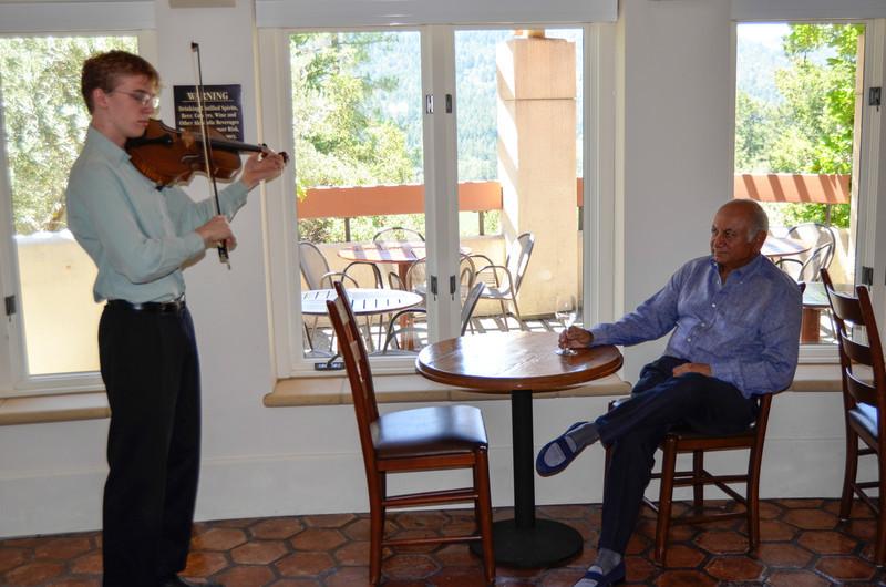 Vintner's Luncheon at Sterling Vineyards. Darioush Khaledi enjoys a private concert.