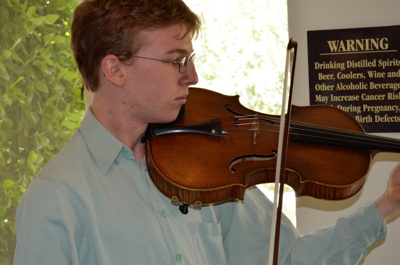 Vintner's Luncheon at Sterling Vineyards. Bouchaine Young Artist Benjamin Penzner on viola.