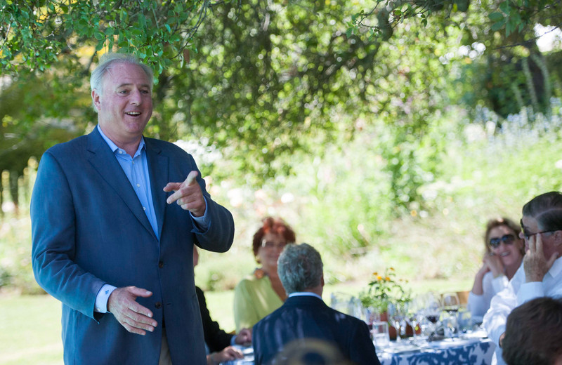 Vintner's Luncheon at Spring Mountain Vineyard. General Manager George Peterson.